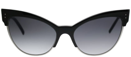 Marc Jacobs MARC 128/S 807 9O Black Silver Cat-Eye Plastic Sunglasses