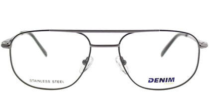 Denim Eyewear Denim 133 X93 Gunmetal Square Metal Eyeglasses