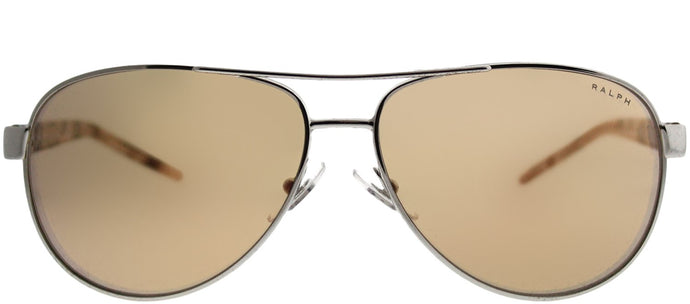 Ralph by Ralph Lauren RA 4004 9001R1 Silver Aviator Metal Sunglasses