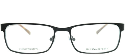 Banana Republic Carlyle 003 Satin Black Rectangle Metal Eyeglasses