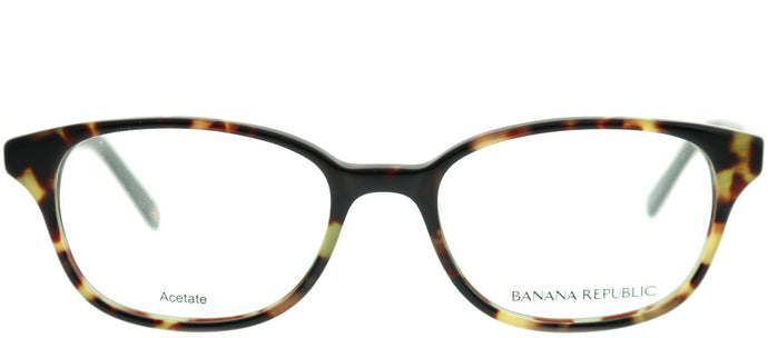Banana Republic Coleen JZW Olive Tortoise Rectangle Plastic Eyeglasses