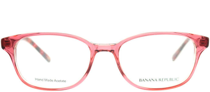 Banana Republic Coleen QZ6 Rose on Red Marble Rectangle Plastic Eyeglasses
