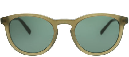 Banana Republic Johnny YL3 QT Transparent Olive Round Plastic Sunglasses