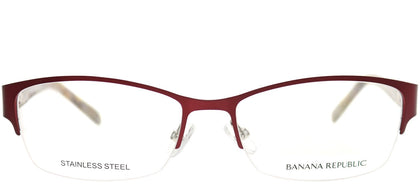 Banana Republic Jordyn 23B Bordeaux Semi-Rimless Metal Eyeglasses