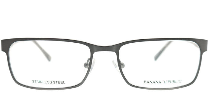 Banana Republic Carlyle JWW Brushed Ruthenium Rectangle Metal Eyeglasses