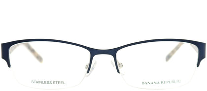 Banana Republic Jordyn DA4 Navy Semi-Rimless Metal Eyeglasses