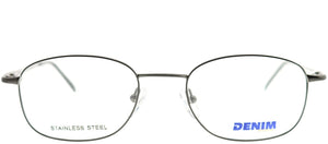 Denim Eyewear Denim 101 9LW Grey Rectangle Metal Eyeglasses