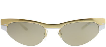 Vogue Eyewear Gigi Hadid For Vogue VO 4105S 280/5A Brushed Gold White Cat-Eye Metal Sunglasses