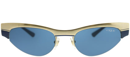 Vogue Eyewear Gigi Hadid For Vogue VO 4105S 848/80 Brushed Pale Gold Blue Cat-Eye Metal Sunglasses