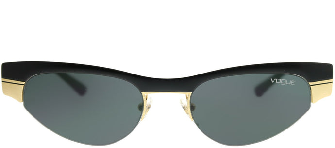 Vogue Eyewear Gigi Hadid For Vogue VO 4105S 917/87 Matte Black Brushed Gold Cat-Eye Metal Sunglasses