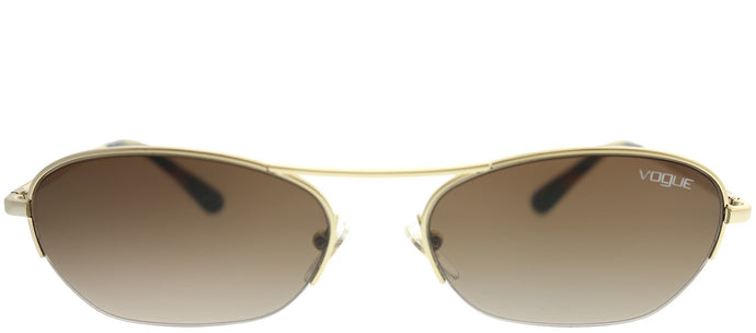 Vogue Eyewear Gigi Hadid For Vogue VO 4107S 848/13 Pale Gold Oval Metal Sunglasses