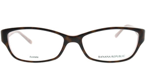 Banana Republic Buffy 1K2 Tortoise on Pink Rectangle Plastic Eyeglasses