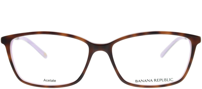 Banana Republic Cate DX1 Havana on Violet Rectangle Plastic Eyeglasses