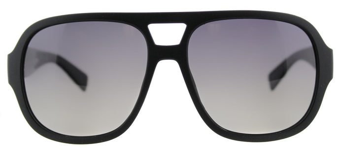 Marc by Marc Jacobs MMJ 483/S Aviator Plastic Sunglasses - Matte Black with Grey Gradient Polarized Lens