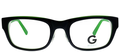 G by Guess GU 203 BLKGRN Black Green Rectangle Plastic Eyeglasses