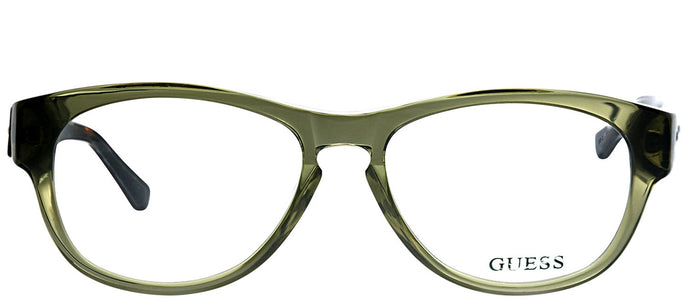 Guess GU 1753 OLTO Olive Tortoise Rectangle Plastic Eyeglasses