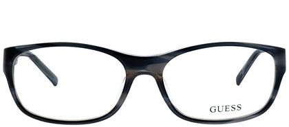 Guess GU 1748 BL Blue Striated Rectangle Plastic Eyeglasses