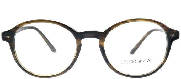 Giorgio Armani AR 7004 5594 Striped Brown Round Plastic Eyeglasses