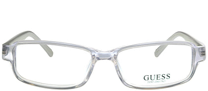 Guess GU 1741 CRY Crystal Rectangle Plastic Eyeglasses
