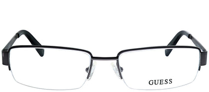 Guess GU 1767 GUN Gunmetal Semi-Rimless Metal Eyeglasses