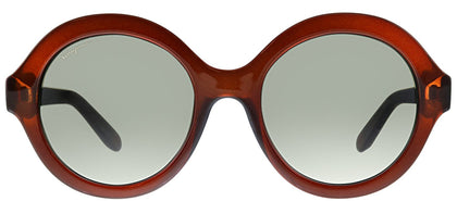 Salvatore Ferragamo SF 857 210 Brown Round Plastic Sunglasses