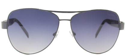 Nicole Miller NM Stone Aviator Metal Sunglasses - Khaki Black with Blue Gradient Lens