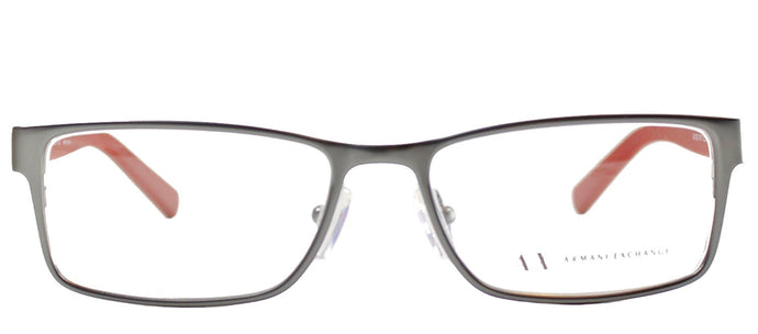 Armani Exchange AX 1003 6017 Satin Gunmetal Rectangle Metal Eyeglasses