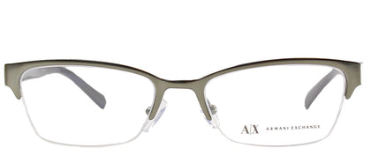 Armani Exchange AX 1004 6017 Satin Gunmetal Semi-Rimless Metal Eyeglasses
