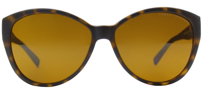 Armani Exchange AX 4006 Fashion Plastic Sunglasses - Matte Tortoise with Brown Lens