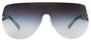 Armani Exchange AX 2005 Shield Metal Sunglasses - Gunmetal Alpine Green with Grey Gradient Lens