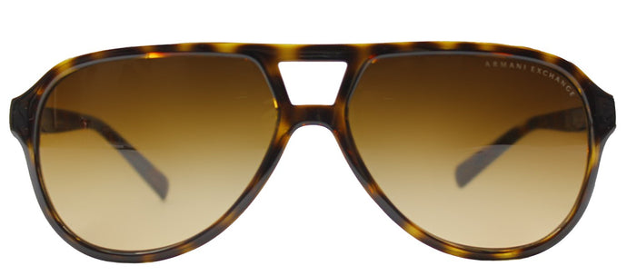 Armani Exchange AX 4011 Aviator Plastic Sunglasses - Tortoise with Brown Gradient Lens