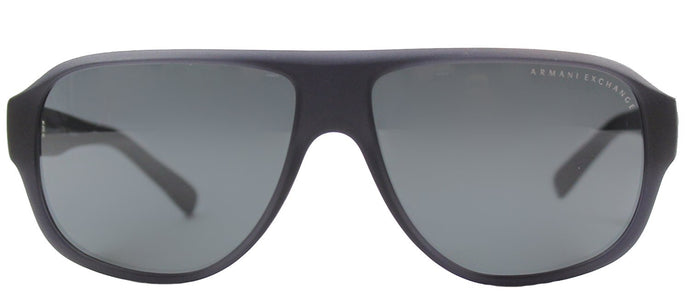 Armani Exchange AX 4005 802087 Matte Black Aviator Plastic Sunglasses