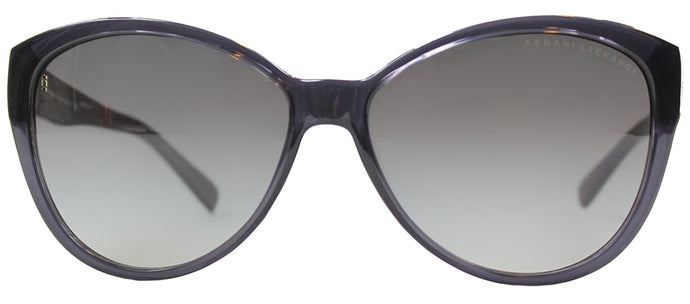 Armani Exchange AX 4006 Fashion Plastic Sunglasses - Black Transparent with Grey Gradient Lens