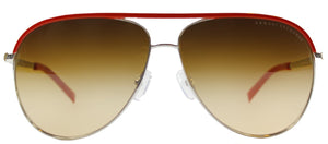 Armani Exchange AX 2002 602513 Silver Samba Aviator Metal Sunglasses