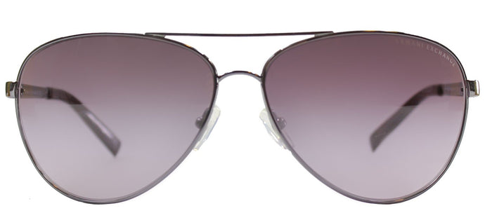 Armani Exchange AX 2006 60048H Gunmetal Burgundy Aviator Metal Sunglasses