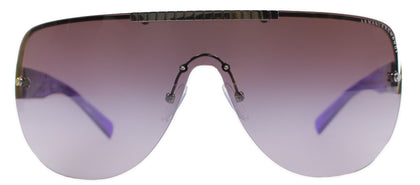 Armani Exchange AX 2005 Shield Metal Sunglasses - Gunmetal Purple with Purple Gradient Lens