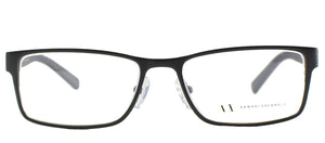 Armani Exchange AX 1003 Rectangle Metal Eyeglasses - Satin Black
