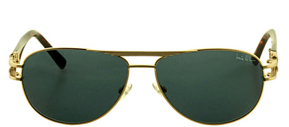 Nicole Miller NM PERRY C01 Fashion Plastic Sunglasses - Matte bGold/Tortoise with Dark Blue Gradient Lens