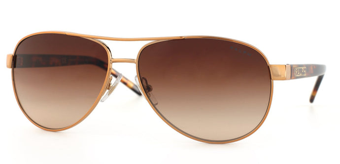 Ralph by Ralph Lauren RA 4004 Aviator Metal Sunglasses - Gold with Brown Gradient Lens