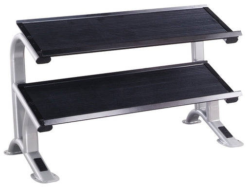 York ETS 2-Tier Dumbell Flat Tray Rack