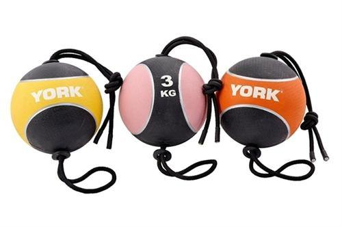 York 5kg Medicine Ball with Rope