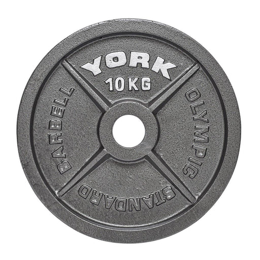 "York Barbell Olympic 2"" Hammertone Cast Iron Weight Plates"