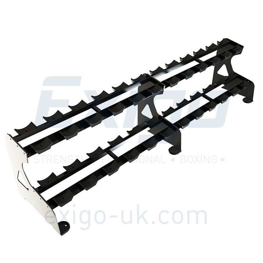 Exigo Pro 2 Tier Dumbbell Rack (12 pairs)