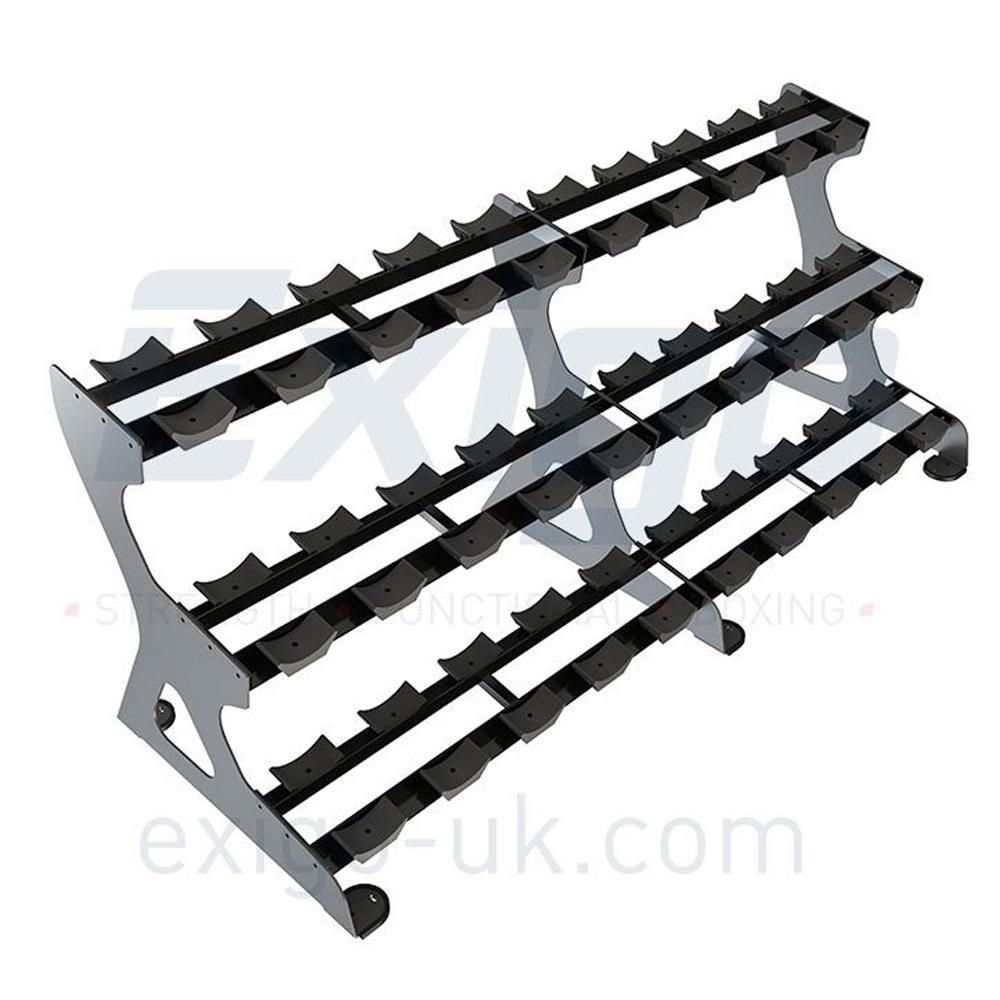Exigo Pro 3 Tier Dumbbell Rack  (18 Pairs)