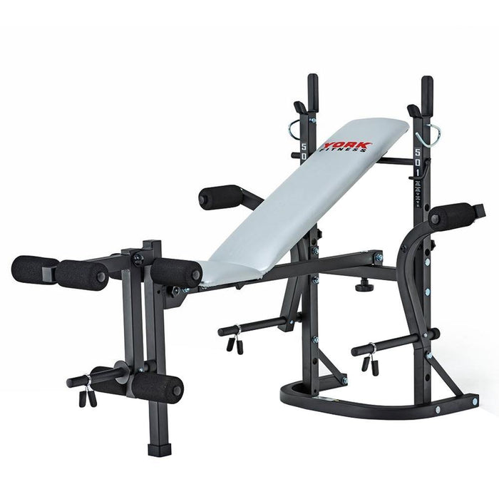 York 501 Folding Barbell Bench
