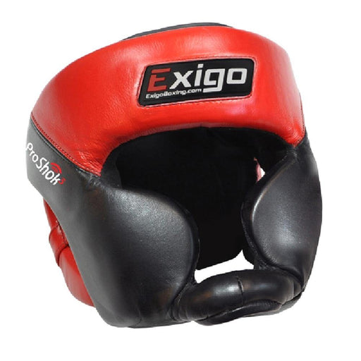 Exigo Pro Head Guard Full Face , Red/Black - M/L