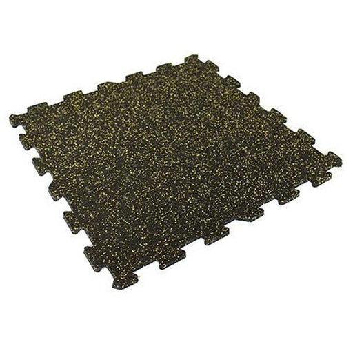 Jordan Black & Yellow Fleck Rubber Flooring (12mm thickness)