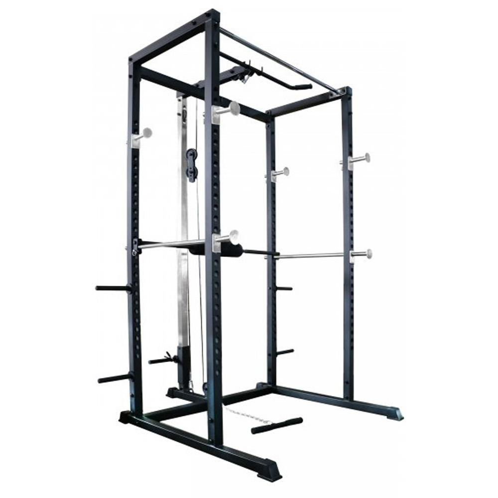 Primal Strength Primary Home Power Rack with Lat Pulldown/Low Row - Matte Nero