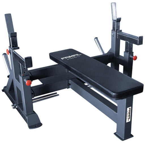 Primal Strength Adjustable Olympic Bench With Spotter & Platform