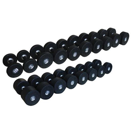 Primal Strength Premium Rubber Nero Dumbbells 27.5kg-50kg